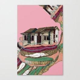 desconstruction house Canvas Print