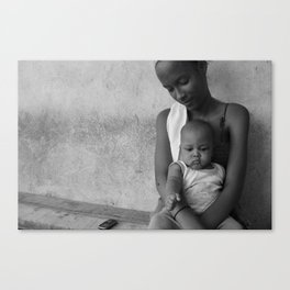 A Young Mother Canvas Print