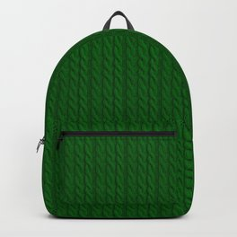 Green Cable Knit Sweater knitting design Backpack