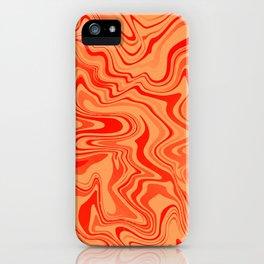 Magma Liquid Agate iPhone Case
