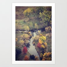 Autumn from the Skies Art Print