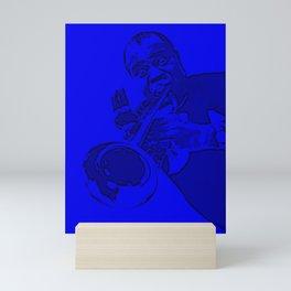 S6 - Louis - Louie - Daniel Armstrong Satchmo - Satch - Pops - Pop Sketch-Art 443 Mini Art Print