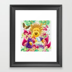 Moka, the magic lion Framed Art Print
