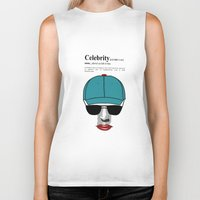 celebrity Biker Tanks featuring Celebrity by jt7art&design