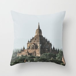 Bagan, Myanmar Throw Pillow