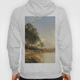 Afternoon Along The Banks Of A River 1862 By David Johnson | Reproduction | Romanticism Landscape Pa Hoody