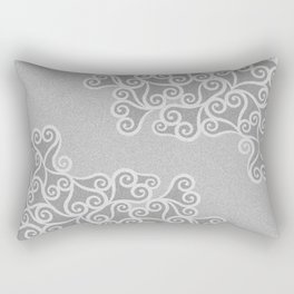 Comtemporary Abstract Leaves Grey Pattern Rectangular Pillow