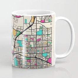 Colorful City Maps: Albuquerque, New Mexico Coffee Mug