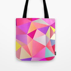 Pink Polygons Tote Bag