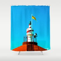 lighthouse Shower Curtains featuring Lighthouse by EPART