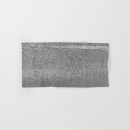 Crinkled Silver Foil Texture Christmas/ Holiday Hand & Bath Towel