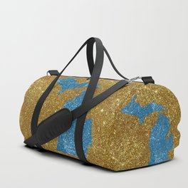 Michigan glitter Duffle Bag