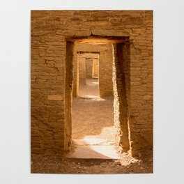 Chaco Ancient Doors Poster