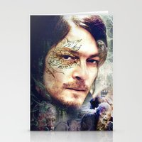 daryl dixon Stationery Cards featuring Daryl Dixon by András Récze