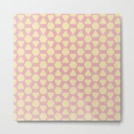 Pastel Red-Yellow Freeman Lattice Metal Print