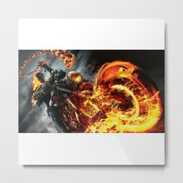 Fire on the road Metal Print