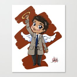 Chibi Castiel (Supernatural) Canvas Print