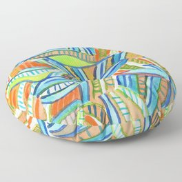 Bent and Straight Ladders Pattern Floor Pillow