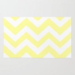 Lemon yellow (Crayola) - yellow color -  Zigzag Chevron Pattern Rug