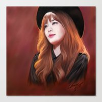 snsd Canvas Prints featuring Tiffany SNSD Digital Painting by chrispyart