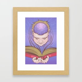 Reading Nirvana Framed Art Print