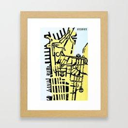 SYDNEY (MAPSTAT SERIES) Framed Art Print