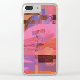 Stirring Up The Past (mixed media) Clear iPhone Case
