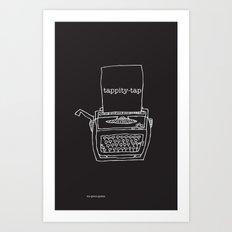 Vintage typewriter negative Art Print