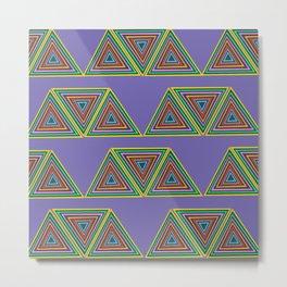 Nineties African Triangle Metal Print