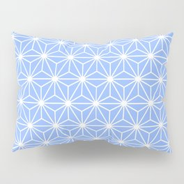 Cold Blue Geometric Flowers and Florals Isosceles Triangle Pillow Sham