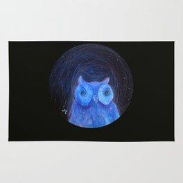 Round Owl Rug