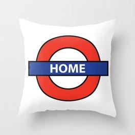 Underground Home Sign Throw Pillow