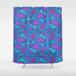 Colorful chaotic storm Shower Curtain