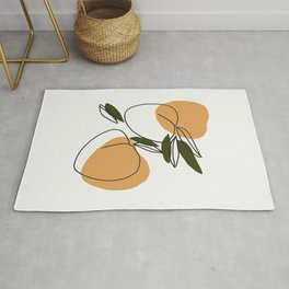 The peaches - Modern abstract art illustration Rug