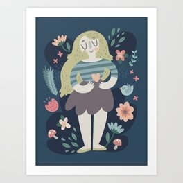 Mother's Day Lady In Nature Design Art Print