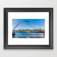 Gateshead Millenium Bridge Framed Art Print