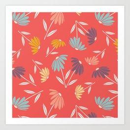 Garden Flowers Style D Art Print