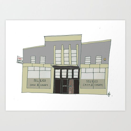 Silkes Cash and Carry, Galway city. Ireland Art Print