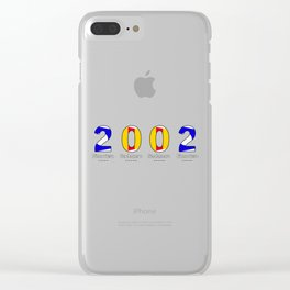 2002 - NAVY - My Year of Birth Clear iPhone Case