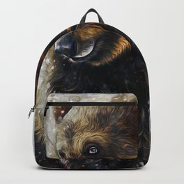 Brown Bear In The Snow Backpack