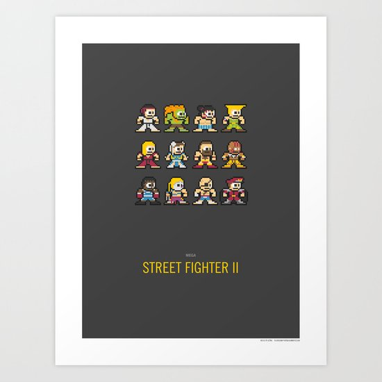 Mega Street Fighter II Art Print