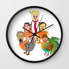 Flock of Felons Wall Clock
