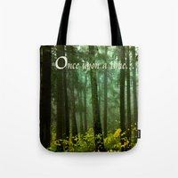 once upon a  time Tote Bags featuring Once upon a time... by Armine Nersisian