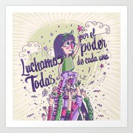 EL PODER DE TODAS Art Print
