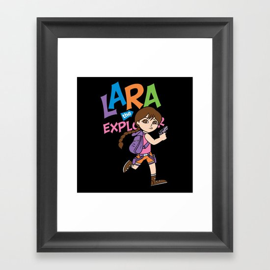 Lara the Explorer Framed Art Print