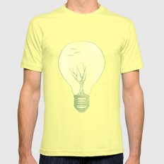 Ideas Grow 2 SMALL Lemon Mens Fitted Tee