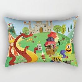 the medieval adventure Rectangular Pillow