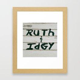 Ruth and Idgy 3 Framed Art Print