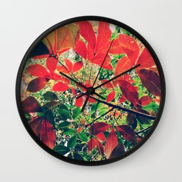 Coquelicot Shades Wall Clock