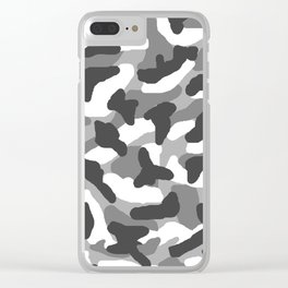 Grey Gray Camo Camouflage Clear iPhone Case